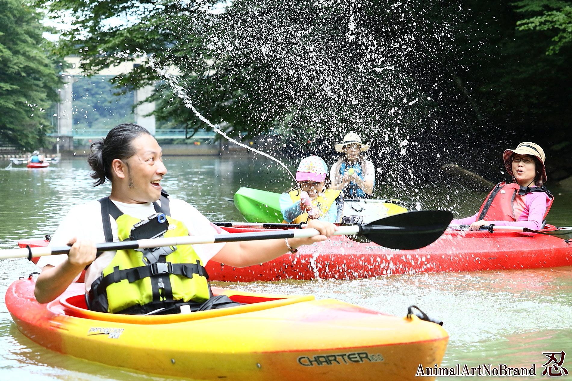 板室ダム湖カヌー体験